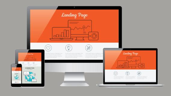 30542713 - responsive landing page development template illustration